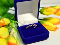 Кольцо с камнями Золото 585 (14K) вес 0.97 г