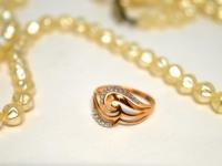 Кольцо с камнями Золото 375 (9K) вес 1.17 гр.