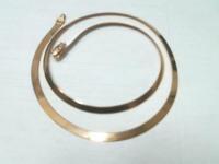 Цепь плоская гнутая Золото 585 (14K) вес 8.27 г