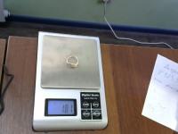 Кольцо без синтетических вставок Золото 585 (14K) вес 1.81 г