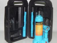 Домкрат гидравлический бутылочный 770026 ( в кейсе, рукоятка, прокладка)