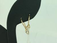 Серьги с белыми камнями  Золото 585 (14K) вес 1.00 г