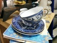 2 чашки 2 блюдца Китай