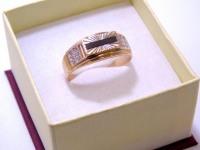 Кольцо мужск с камнями Золото 585 (14K) вес 4.38 г