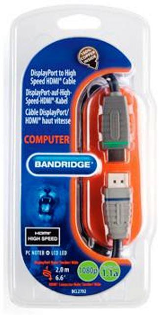 Кабель HDMI Bandridge BCL2702 2m