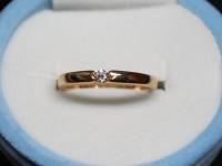 Кольцо бр. 1 шт. кр-57 0,057ct Золото 585 (14K) вес 1.89 гр.