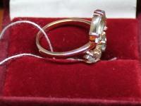 Кольцо с голубыми камнями. Золото 585 (14K) вес 2.98 г
