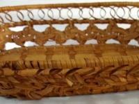 Хлебница плетеная овал