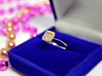 Кольцо с камнями Золото 585 (14K) вес 1.27 г