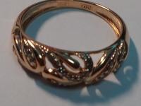 Кольцо с 32-мя бриллиантами 0,13к(+10920) Золото 585 (14K) вес 3.43 г