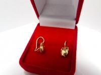 Серьги 3Н519 Золото 585 (14K) вес 1.38 гр.