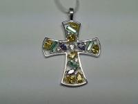 Крест с фианитами 42030067 Серебро 925 вес 4.33 гр.