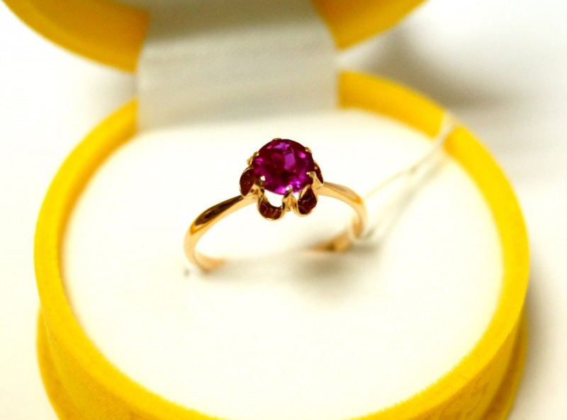Кольцо 1П 1011 Золото 585 (14K) вес 2.85 гр.
