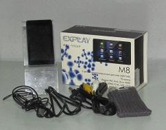 Плеер Explay M8 4Gb (в коробке, чехол, usb кабель, кабель тюльпан, наушники, инструкция)