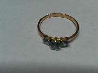 Кольцо  с камнями Золото 585 (14K) вес 1.10 г
