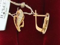 Серьги ск. Золото 585 (14K) вес 3.90 г