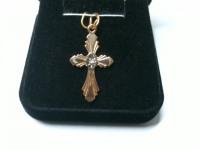 Крестик c бриллиантом Золото 585 (14K) вес 1.52 г