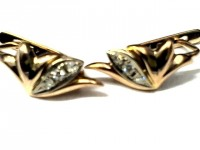 Серьги с бриллиантами Золото 585 (14K) вес 4.61 г