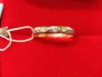 Кольцо 3 бр.кр-17 2/2 0,06ct Золото 585 (14K) вес 2.60 гр.
