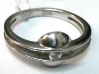 Кольцо с камнем белое золото Золото 585 (14K) вес 2.38 гр.
