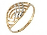 Кольцо 01-0555(3150) Р-р:17.5 Золото 585 (14K) вес 1.22 гр.