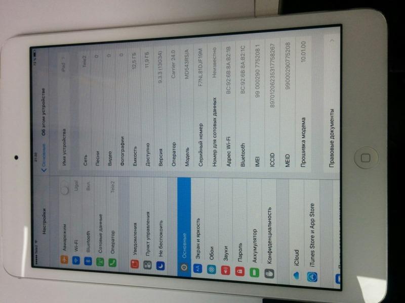 Apple iPad mini 16Gb Wi-Fi + Cellular  16GB