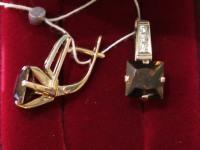 Серьги ск. Золото 585 (14K) вес 6.98 гр.