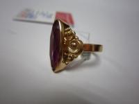 Перстень с фиолет.кам Золото 585 (14K) вес 5.53 гр.