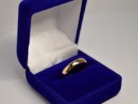 Кольцо обручальное Золото 585 (14K) вес 2.59 г