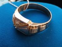 Кольцо брилл.  0,18  кр Золото 585 (14K) вес 6.86 гр.