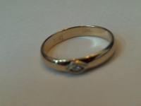 Кольцо с бриллиантом Золото 585 (14K) вес 1.64 г