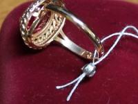 Кольцо ск (красный) Золото 585 (14K) вес 5.95 гр.