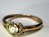 Кольцо с множеством белых камней Золото 585 (14K) вес 1.80 гр.