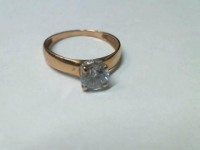 Кольцо с камнем Золото 585 (14K) вес 1.84 г