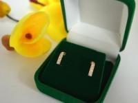 Серьги с камнями Золото 585 (14K) вес 1.17 гр.