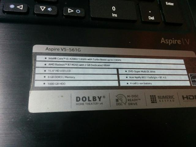 Ноутбук Acer   v5-561g-54208g1