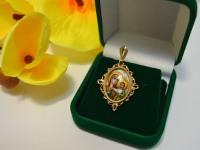 Кулон с камнями Золото 585 (14K) вес 5.06 г