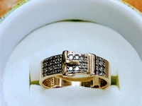 Кольцо ремешок Золото 585 (14K) вес 3.34 г