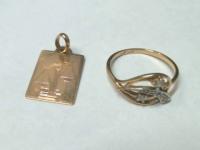 Ювелирные изделия 2 шт Золото 585 (14K) вес 3.18 гр.