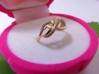 Кольцо с фианитом Золото 585 (14K) вес 1.80 гр.