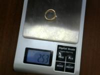 Кольцо с 1 вставкой Золото 585 (14K) вес 2.53 г
