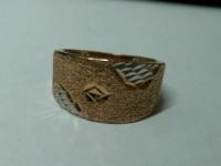 Кольцо с бел. напылением Золото 585 (14K) вес 4.38 г