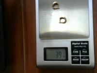 Серьги с мел. синт. вст. Золото 585 (14K) вес 3.97 г