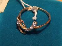 Кольцо с фианит Золото 585 (14K) вес 2.31 г