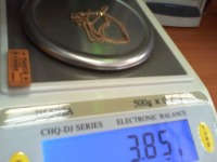 Цепочка Золото 585 (14K) вес 3.84 гр.