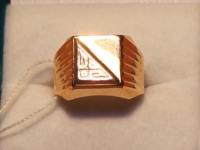 Печатка муж. без камня Золото 585 (14K) вес 6.99 г
