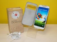Телефон Samsung GT-i9500 Galaxy S4, коробка, гарнитура, инструкция, в чехле