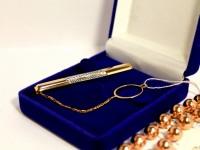 Зажим для галстука Золото 585 (14K) вес 3.54 г