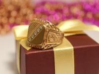 Кольцо с/к Золото 585 (14K) вес 6.42 г