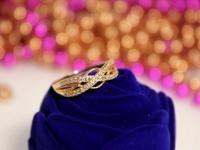 Кольцо с/к Золото 585 (14K) вес 1.87 г